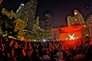 X at Pershing Square Los Angeles